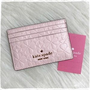 NWT! Kate Spade Hollie Clover Embossed Card Holder